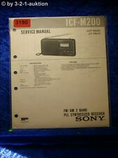 Sony Service Manual ICF M200 PLL Synthesized Receiver (#3190)