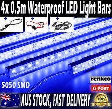 4x 0.5m LED Strip Light Bars 5050 Blue 12V Waterproof For Caravan Boat Car Camp