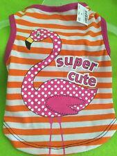 "Dog Shirt-Tank Size XSmall NWT ""Supper Cute"" hot Pink Flamingo"