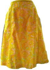 VINTAGE THE LILLY PULITZER 60s 70s YELLOW LION COTTON A-LINE SHIFT SKIRT M/L 16