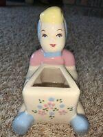 Vintage California Figurine Pottery Little Girl Planter Ceramics