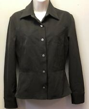 Versace Jeans Couture Women XS Brown Long Sleeve Snap Front Fitted Shirt Italy