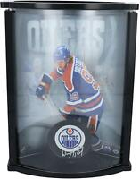 Wayne Gretzky Edmonton Oilers Signed 802 Logo Puck with Curved Display Case - UD