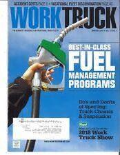 Work Truck Magazine January 2018 Fuel Management