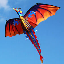 3D FLYING DRAGON KITE 328FT LARGE LINE WITH TAIL OUTDOOR KIDS PLAY TOYS AWESOME