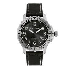 Nautica Herren Armbanduhr Uhr Watch 48 mm Taucheruhr Datum Schwarz 10 ATM 100m