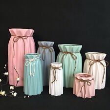 Pastel Tischvase Vase Blumentopf Origami  Designvase Weiß Rosa blau  Matt