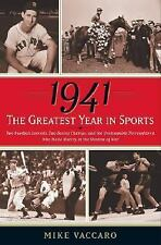 1941  The Greatest Year in Sports  Mike Vaccaro Whirlaway triple crown Dimagio