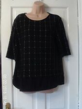 BLACK AND WHITE TOP, SIZE 14