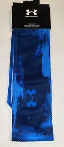 "Under Armour Tie Headband Printed, Unisex, 3"", 1356706, Blue Camo, NWT"
