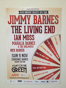JIMMY BARNES A Day On The Green 2014 Poster A2 LIVING END Sirromet Nov 9th **NEW