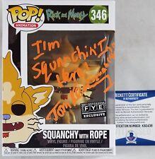 TOM KENNY SIGNED SQUANCHY Funko Pop Autograph BAS COA 438 RICK MORTY 346 FYE