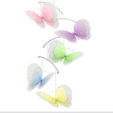 Butterfly Mobile Baby Nursery Room Ceiling Nylon Butterflies Decor Multi Layered