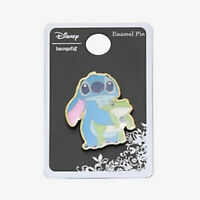Disney Loungefly Lilo And Stitch Holding Frog Gold Tone Metal Enamel Pin