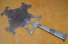Medium Handmade Ethiopian Coptic Christian Processional Cross, Ethiopia Africa