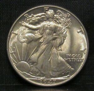 1947 Walking Liberty Half Dollar CHOICE BU