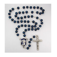 Police Officer's Blue Rosary with St. Michael plus 3 free prayer cards/magnet