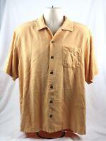 Tommy Bahama Short Sleeve Button-up 100% Silk Hawaiian Style Shirt Men's Large