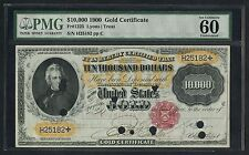 FR1225B $10,000 GOLD CERT LYONS-TREAT 6 KNOWN THE ONLY UNC TOP POP WLM3139 RA17