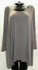 MarlaWynne Womens 3X Plus Size Top Brown NWT 3/4 Sleeve
