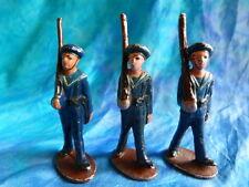 QUIRALU. Lot 5 de3 figurines de marins au défilé en aluminium - ref Q39