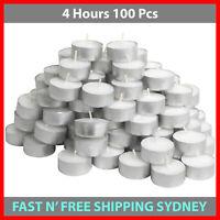 Tea Light Candles 4 Hour 100pcs Bulk Tealight Candle Tea Lights Tealights White