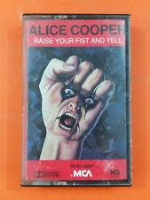 ALICE COOPER Raise Your Fist And Yell MCAC 42091 Cassette Tape