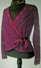 Ideology Women's Anthropologie Blouse Wrap Lace purple Petite Small