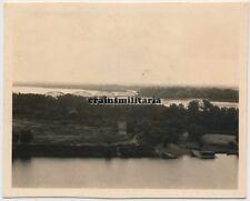 Orig. Photo Panorama Vistule Sikory pont le forteresse Modlin Pologne 1941