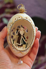 REAL Goos Egg Collectible Decorated Carved  St. Nicholas Christmas Ornament