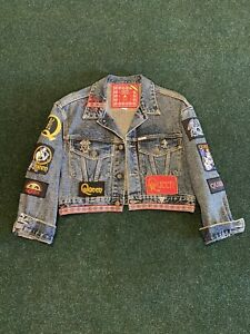 Vintage Queen Band Custom Guess Jean Jacket Women's Size M Style 10899