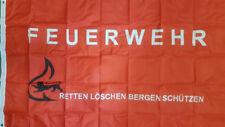 Fahne Flagge Feuerwehr retten löschen bergen 150 x 90 cm NEU+OVP
