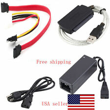 "USB 2.0 to SATA PATA IDE 2.5"" 3.5"" HDD SSD Hard Drive Adapter Kit Transer Cable"