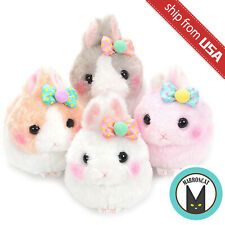 Japan Amuse Usa Dama-chan Pompom Ribbon Rabbit Bunny Standard Plush Doll Kawaii