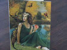 Vintage Tree Free Greeting Card ~ Faerie & Apple - Rare