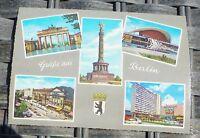Salutations de Berlin Carte Postale 50er 60er Années Krüger 921/13 Å