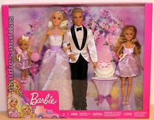 Barbie Hochzeits Geschenkset Ken Chelsea Stacie Braut Bräutigam DJR88 NEU/OVP
