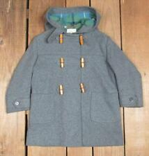 VINTAGE 1940s Lord & Taylor Gris Lana alterno Chaqueta Con / Hood infantil sz.6