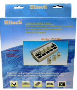 2X Hitech iC-109V 10 Slot Smart Charger for 9V NiMH NiCd Rechargeable BATTERIES