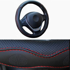 car Universal steering wheel cover covering 38 cm black red embossed not fade