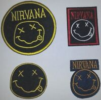 Nirvana Rock & Roll Band Patch Patches~4 Types~Embroidered Applique~Iron or Sew