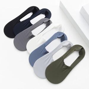 Men Boat Socks Ice Silk Socks Breathable Summer Socks Invisible Socks Hosiery