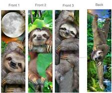 3- 3 Toed SLOTH BOOKMARK-Rain Forest Animal Book Mark ART Card Figurine Ornament