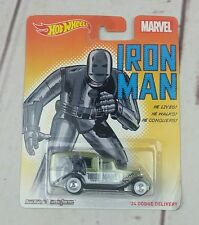 New Hot Wheels Marvel Iron Man '34 Dodge Delivery Die-cast Car In Packaging
