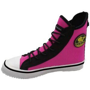 Poseidon One Shoe Boot Neoprene Scuba Dive Bootie Step In Back Zip Womens 7 Pink