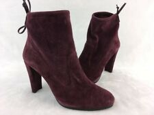 Stuart Weitzman Perfection Currant Suede Ankle Boot Size 9M  B2674/