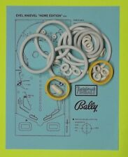 1978 Bally Evel Knievel 'HOME' pinball rubber ring kit