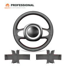 Genuine Leather Car Steering Wheel Cover for Mini Clubman Clubvan Convertible