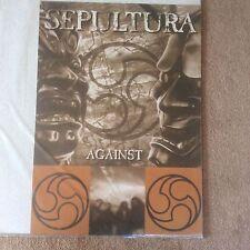 Huge Rare 1998 SEPULTURA Against Promo Brazilian Metal Music Poster Memorabilia