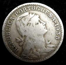 1935 Portugal (Azores) 50 Centavos Coin